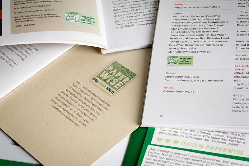 PaperWise printing colophon