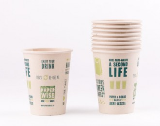 PaperWise bio vending cup Natural 7oz 180cc drink dim.Ø69x85mm compostable 250 cups