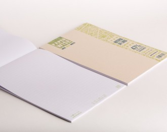 PaperWise note pad A4 brown cover lined white paper 80 g/m² 50 sheets 5 notepads