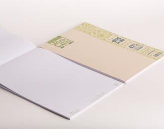 PaperWise schrijfblok A4 bruine kaft gelinieerd wit papier 80 g/m² 50 vel 5 schrijfblokken
