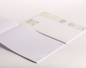 PaperWise note pad A4 white cover lined white paper 80 g/m² 50 sheets 5 notepads