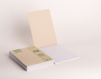 PaperWise note pad A5 brown cover lined white paper 80 g/m² 50 sheets 5 notepads