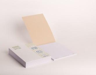 PaperWise Schreibblock A5 weißes Deckblatt weißes Papier 80 g/m² 50 Blatt 5 Notizblöcke