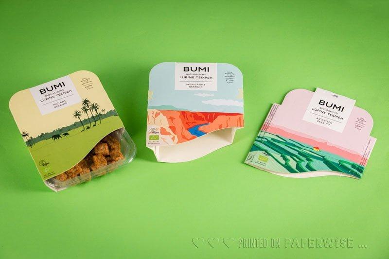 paperwise packaging sleeve vegan bio bumi