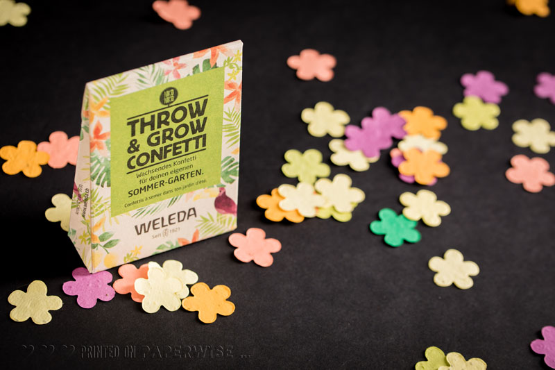 Sustainable confetti packaging