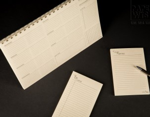 PaperWise eco paper calender agenda writing pad notebook sustainable stationery office Mooi Graphic Studio