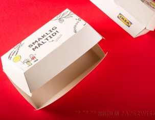 PaperWise eco paper socially responsible board bio food tray sustainable meal box organic packaging Ikea