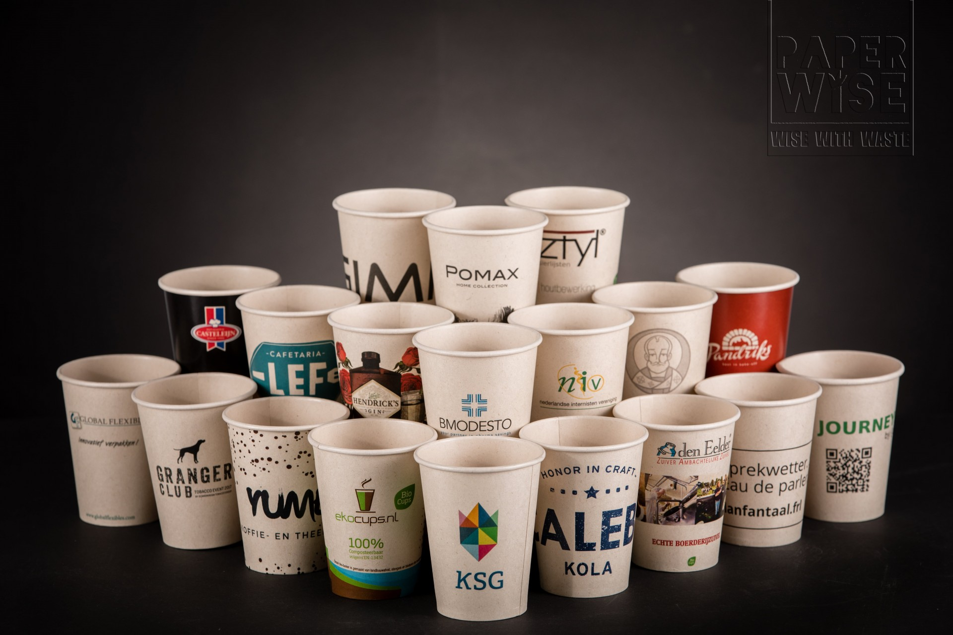 PaperWise organic paper cup eco friendly disposable paper tea coffee drinking cups office