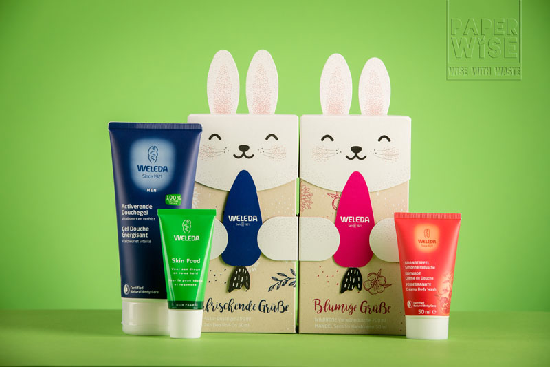 paperwise sustainable paper board organic gift packaging giftbox natural cosmetic beauty soap cream body care weleda