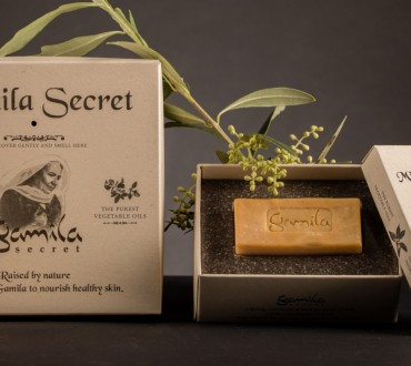 PaperWise sustainable paper wrapping eco packaging cosmetic beauty soap cream bodycare bars Gamila Secret
