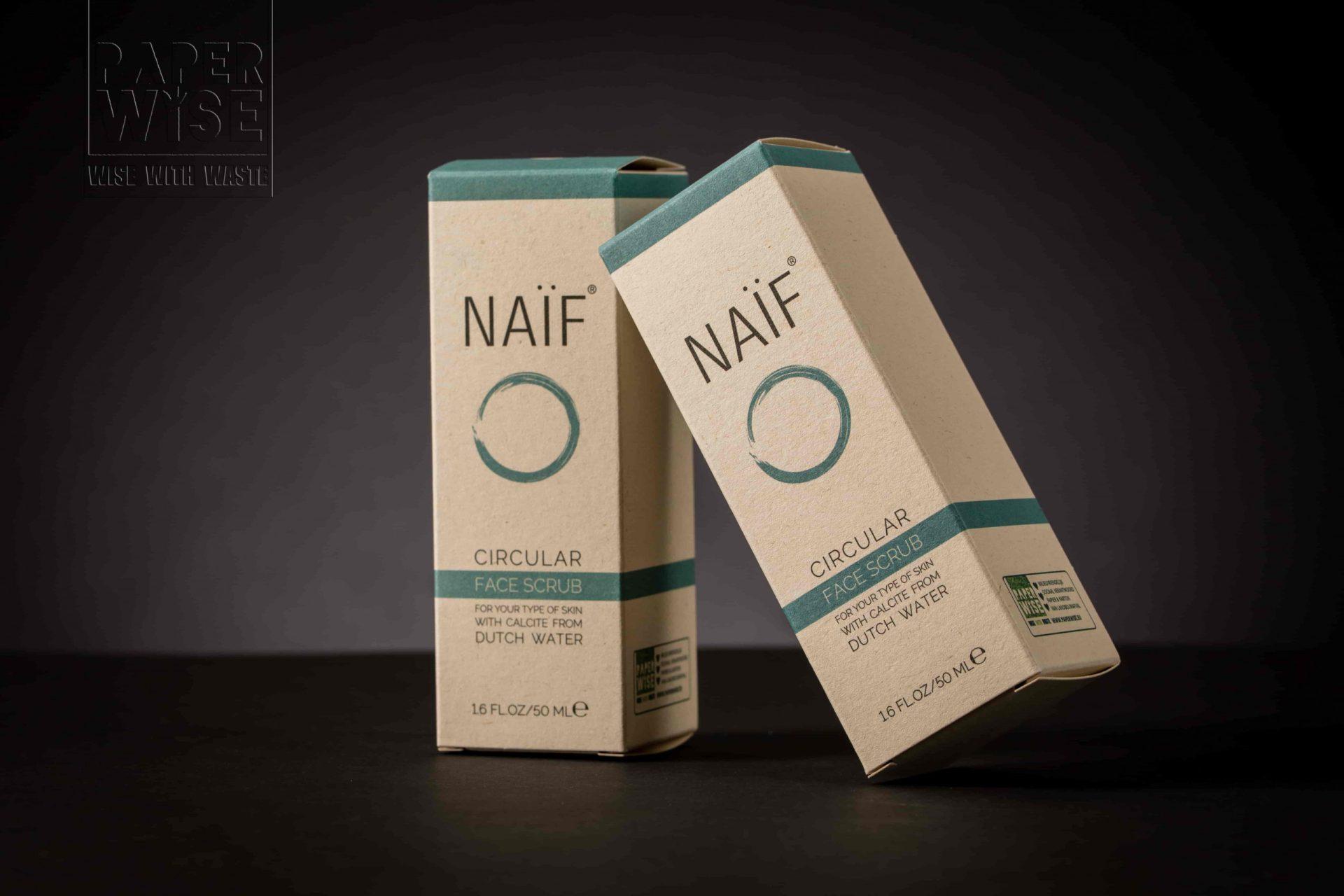 PaperWise packaging natural facial scrub Nai?f 2